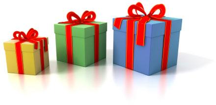 Des paquets cadeaux